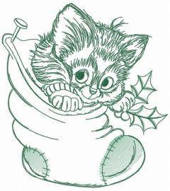 Adorable kitten 2 embroidery design