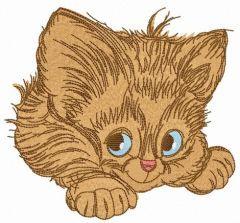Adorable kitten 5 embroidery design