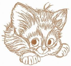 Adorable kitten 6 embroidery design