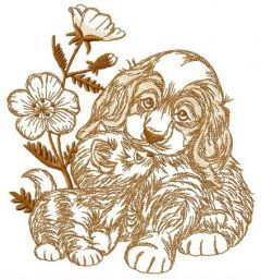 Adorable pets embroidery design