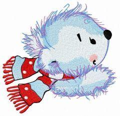 Adorable polar bear embroidery design
