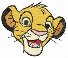 Adorable Simba embroidery design