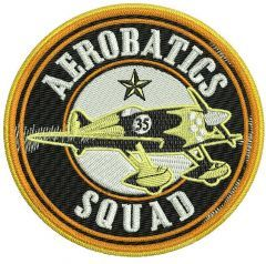 Aerobatics Squad embroidery design