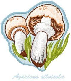 Agaricus Silvicola embroidery design