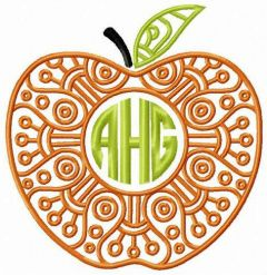 AHG apple embroidery design