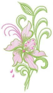 Air flowers 2 embroidery design