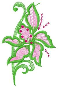 Air flowers 3 embroidery design