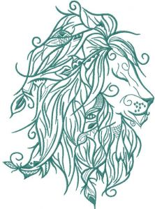 Air Lion embroidery design