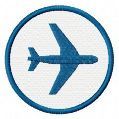 Airport badge free embroidery design