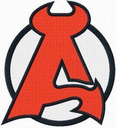 Albany Devils logo embroidery design