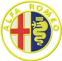Alfa Romeo Logo embroidery design