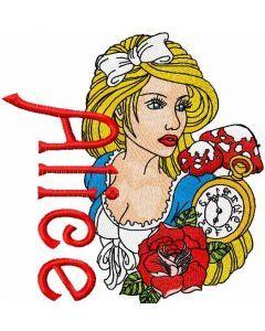 Alice 1 embroidery design