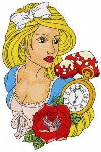 Alice in Wonderland 10 embroidery design