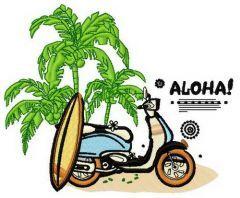 Aloha 3 embroidery design