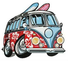 Aloha van embroidery design