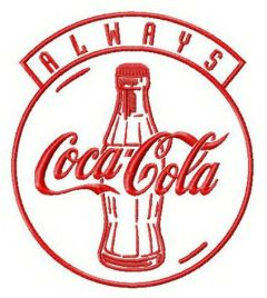 Always Coca-Cola 2 embroidery design