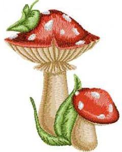 Amanita mushroom embroidery design