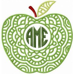 AME apple embroidery design