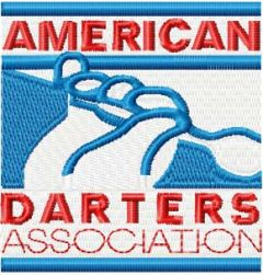 American Darters Association Logo embroidery design