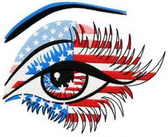 American eye embroidery design