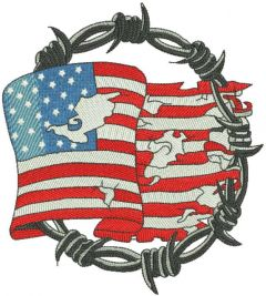 Freedom forever embroidery design