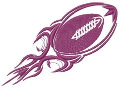 American football ball machine embroidery design