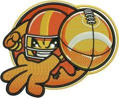 American football player 4 embroidery design