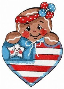American gingerbread 2 embroidery design