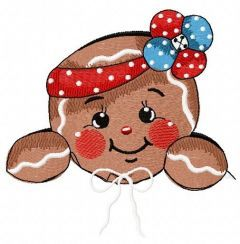 American gingerbread 3 embroidery design