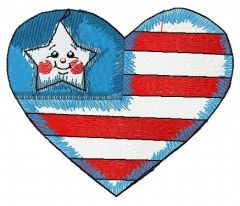 American gingerbread 4 embroidery design