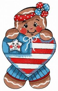 American gingerbread embroidery design