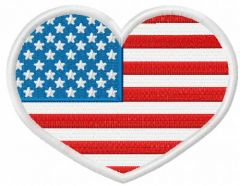 American heart 5 embroidery design