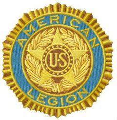 American legion logo embroidery design