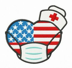 American nurses embroidery design