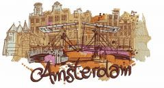 Amsterdam embroidery design