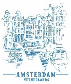 Amsterdam Netherlands 5 embroidery design