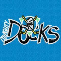 Anaheim mighty duck logo 3 embroidery design