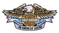 An American legend embroidery design