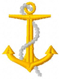 Anchor 15 embroidery design