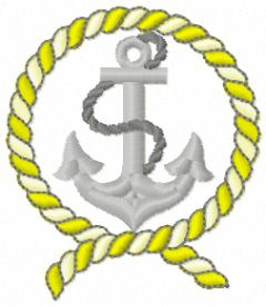 Anchor 2 embroidery design