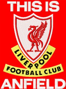Anfield LFC logo embroidery design