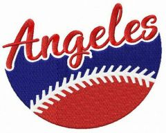 Angeles fan logo embroidery design