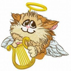 Angelic cat 3 embroidery design