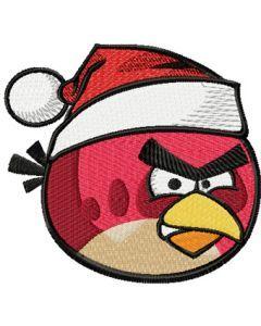 Angry birds Christmas logo machine embroidery design
