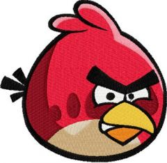 Angry birds logo 1 embroidery design