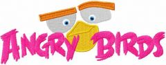 Angry Birds 21 embroidery design