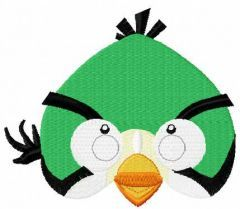 Angry bird green embroidery design