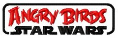 Angry Birds Star Wars logo embroidery design