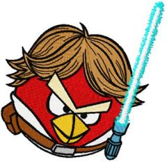 Angry Birds Star Wars Luke embroidery design