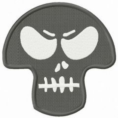 Angry skull mask embroidery design
